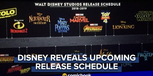 Disney Reveals Entire Upcoming Release Schedule For Marvel, Star Wars And More screen capture