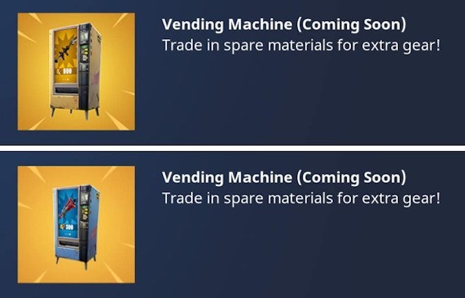 Fortnite's latest update brings vending machines