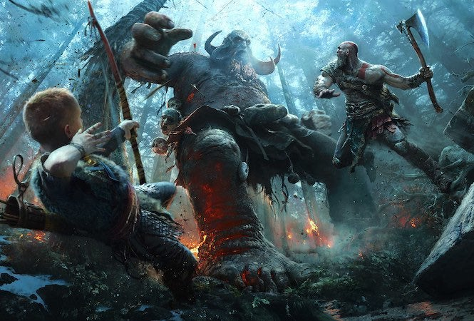 God of War UI, difficulty options detailed by Sony Santa Monica