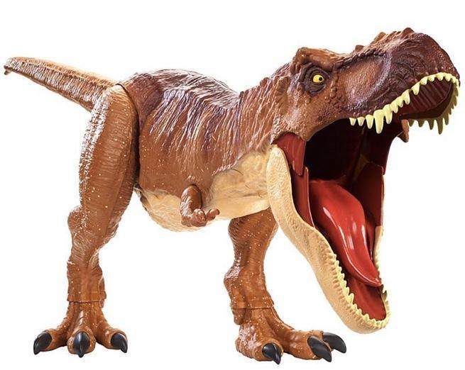 Tyrannosaurus Rex Toys : Mattel s massive jurassic world fallen kingdom dinosaur