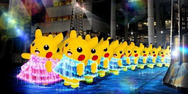 marching pikachu