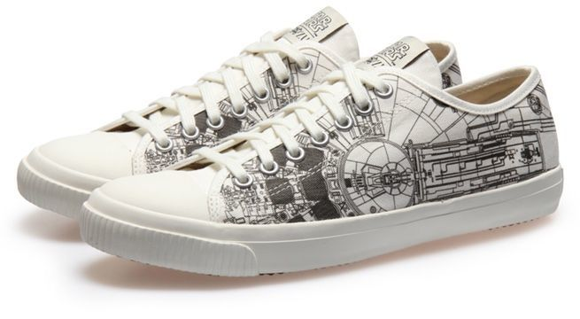 Star Wars Sneakers >> The Official Millennium Falcon Sneaker Joins Po Zu S Star