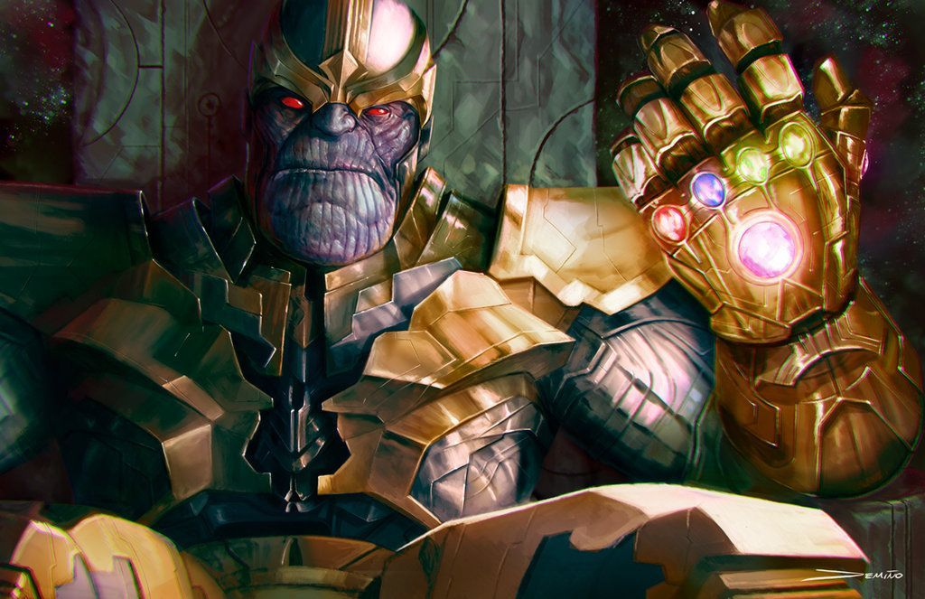 Thanos with Infinity Gauntlet_by_mattdemino-d90b3jj