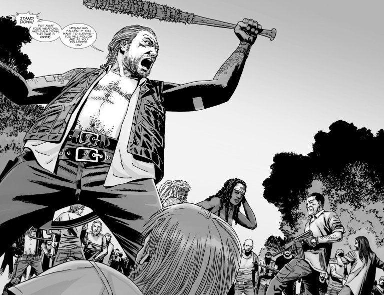 Does dwight die in 39 the walking dead 39 comics for Jeffrey dean morgan tattoo hand