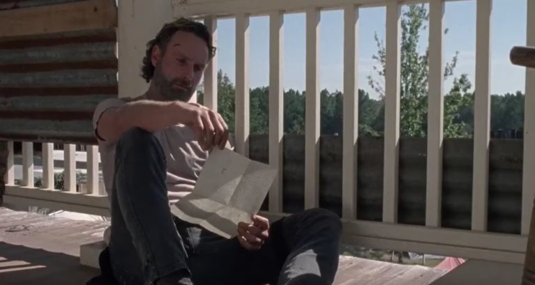 The Walking Dead Carl's letter to Rick