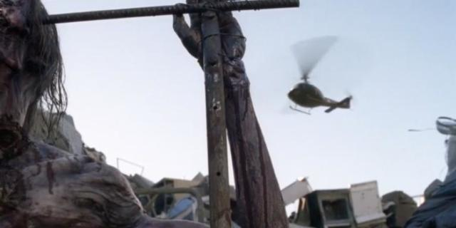 The Walking Dead helicopter comicbookcom