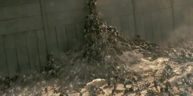 world war z movie wall zombies