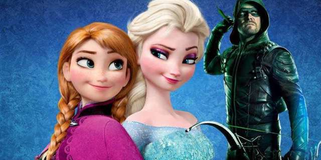 arrow frozen anna elsa