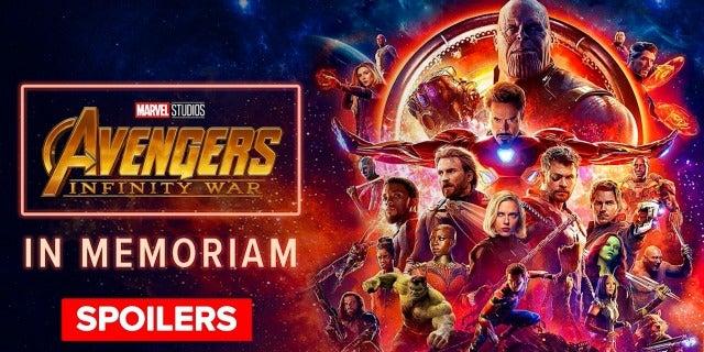 Avengers: Infinity War In Memoriam screen capture