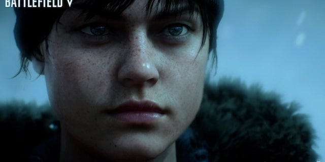 battlefield v woman close up