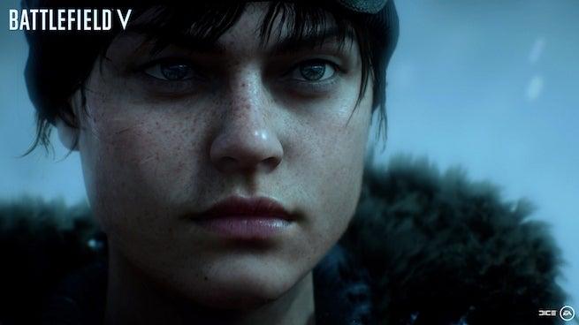 battlefield v woman close up