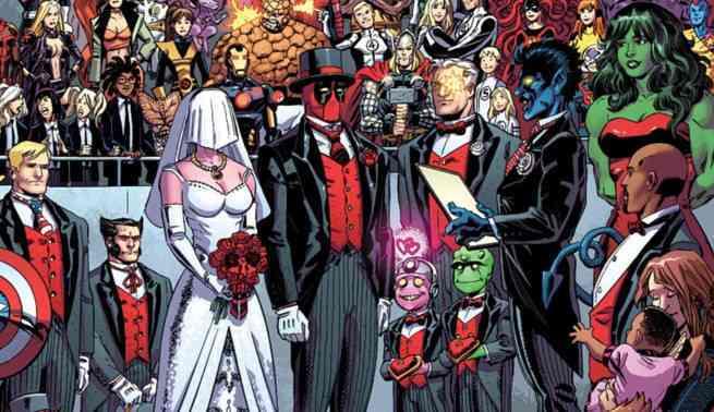 Best Superhero Weddings - Deadpool Shiklah