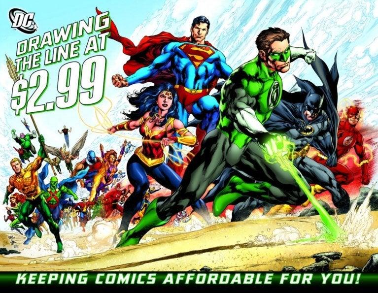 DC Comics Draw the Line 299