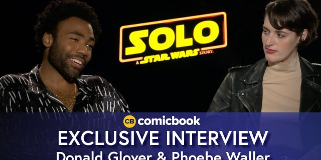 Donald Glover and Phoebe Waller-Bridge Talk 'Solo: A Star Wars Story' screen capture