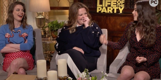 Gillian Anderson, Molly Gordon, and Melissa McCarthy Talk Life of the Party screen capture