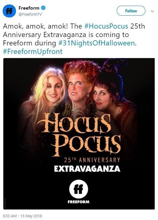 hocus pocus 25th anniversary freeform