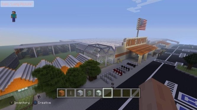 Magnificent Minecraft Fan Recreates Home Depot In Game Home Remodeling Inspirations Propsscottssportslandcom
