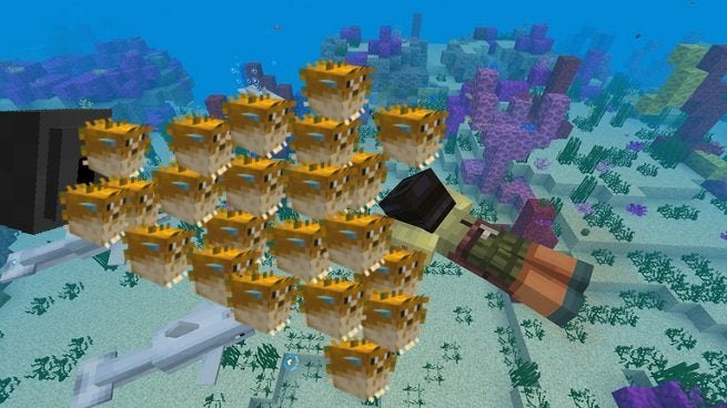 Minecraft Player Creates Hilarious Fish Cannon Trap