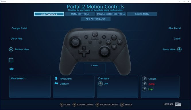 Steam now supports the Switch Pro Controller