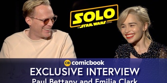 Paul Bettany and Emilia Clarke Talk 'Solo: A Star Wars Story' screen capture