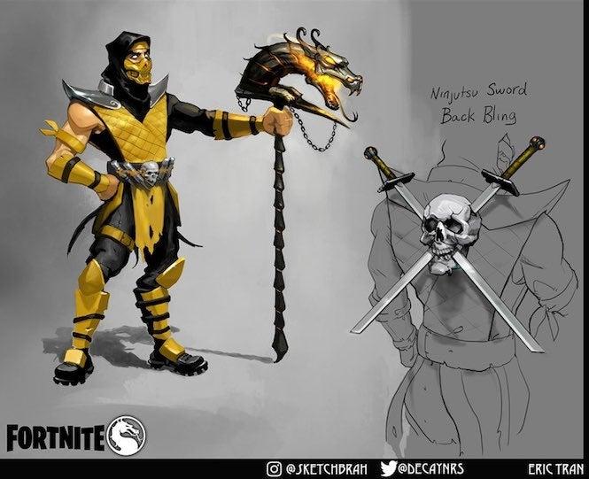 sub zero mortal kombat characters scorpion