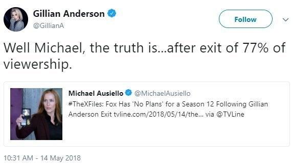 the x-files gillian andersons season 12