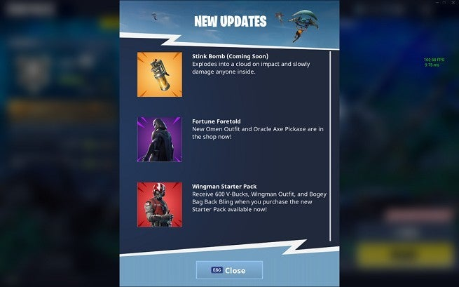 Stink bombs are coming to Fortnite