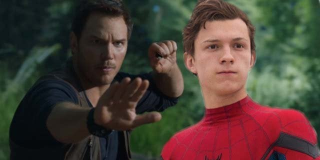 jurassic world fallen kingdom chris pratt tom holland