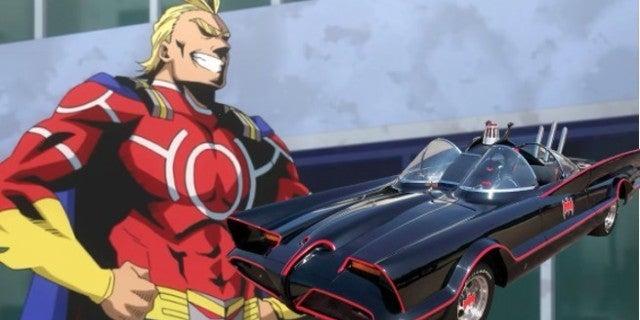 my hero academia batmobile all might