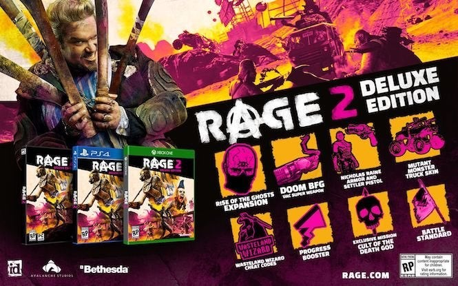 Rage 2 has a Collector's Edition with a singing severed mutant head