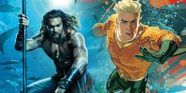 'Aquaman': First Official Look At Jason Momoa's Classic Orange And Green Costume