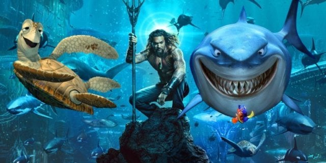 Aquaman poster Finding Nemo