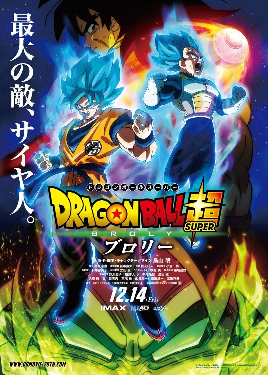 Dragon Ball Super Broly Movie Trailer