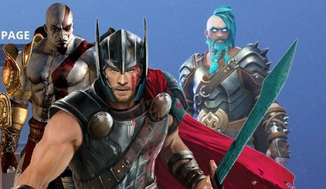 New Fortnite Level 100 Skin Combines Kratos And Thor