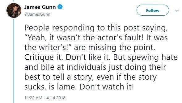 james gunn star wars trolls twitter