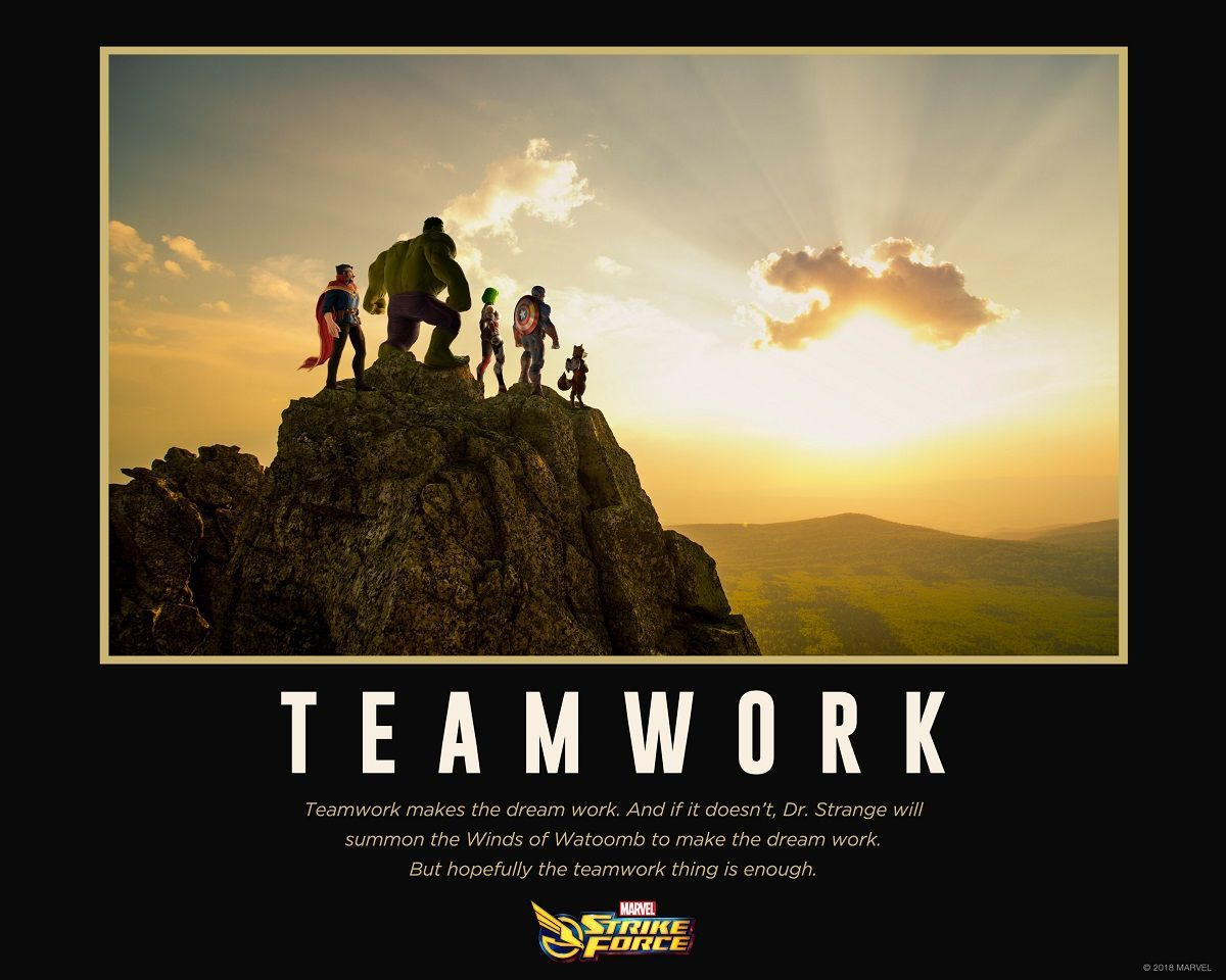 marvel strike force teamwork