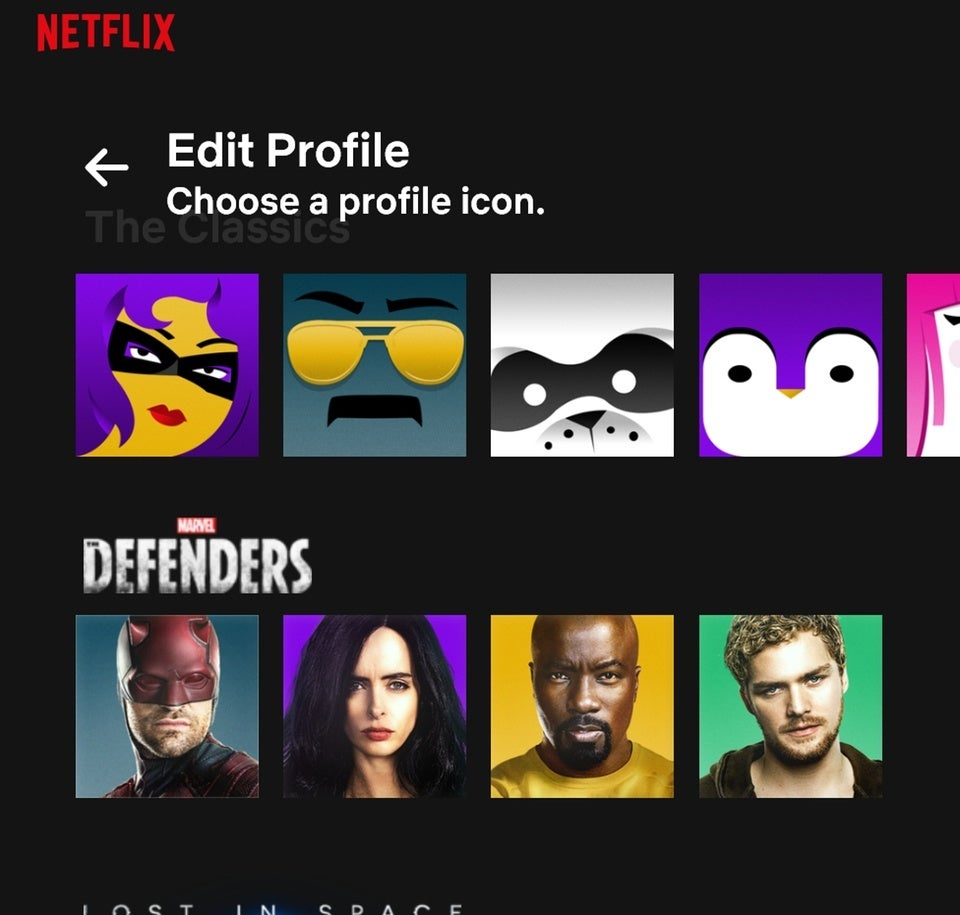 Netfiix has new Profile Icons that pull from original programming