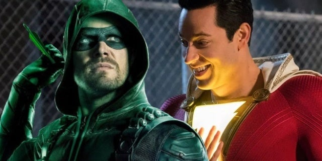 shazam arrow zachary levi stephen amell