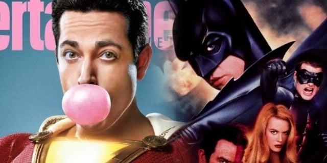 'Shazam! Director Trolls Fans on 'Batman Forever' Comparisons