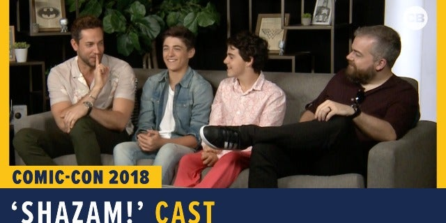 Shazam! Cast & Director - SDCC 2018 Exclusive Interview screen capture