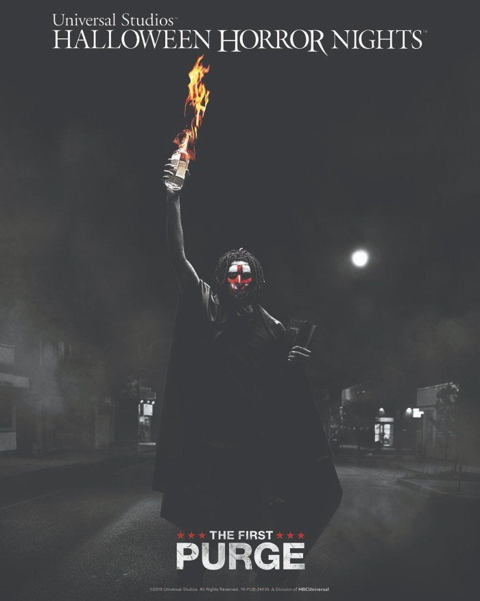 The First Purge halloween horror nights poster
