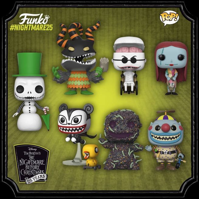 nbx funko 25th pops - A Nightmare Before Christmas
