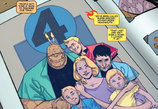 Review Fantastic Four #1 - Family Photo