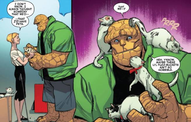 Review Fantastic Four #1 - The Thing and Kittens