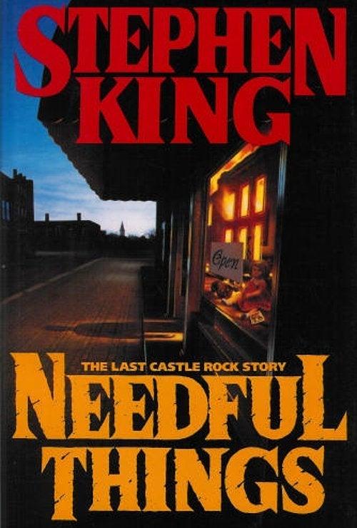 stephen king needful things book cover