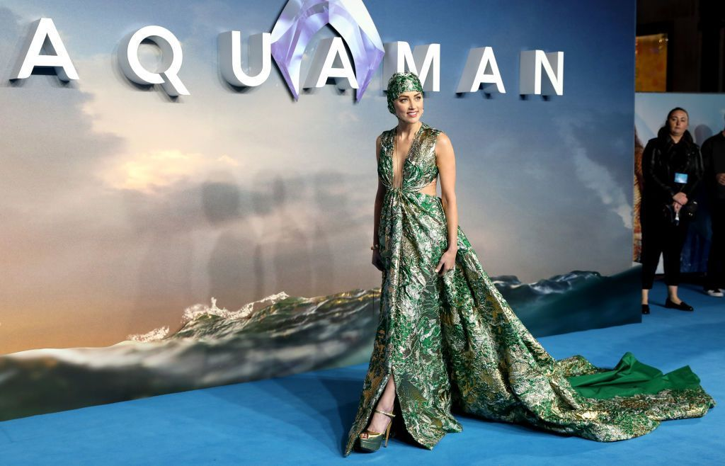 Amber Heard Aquaman London premiere