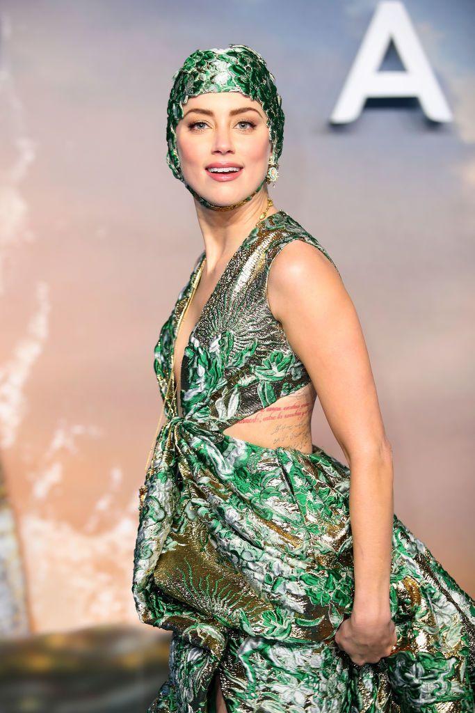 Amber Heard Aquaman London premiere 2