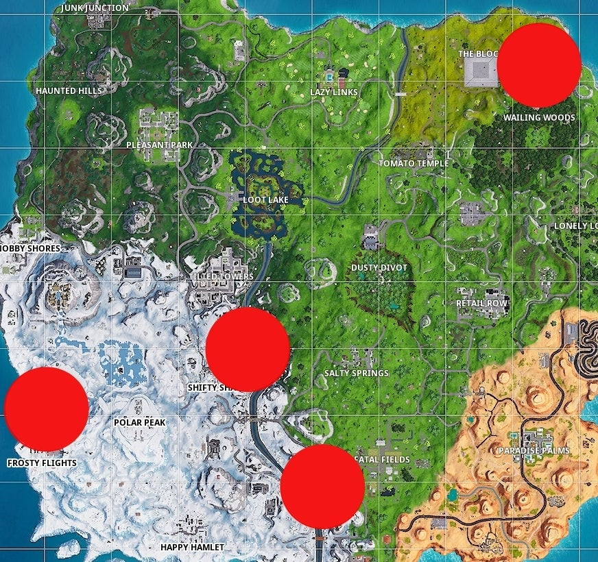 Fortnite Battle Royale: All Giant Candy Cane Locations