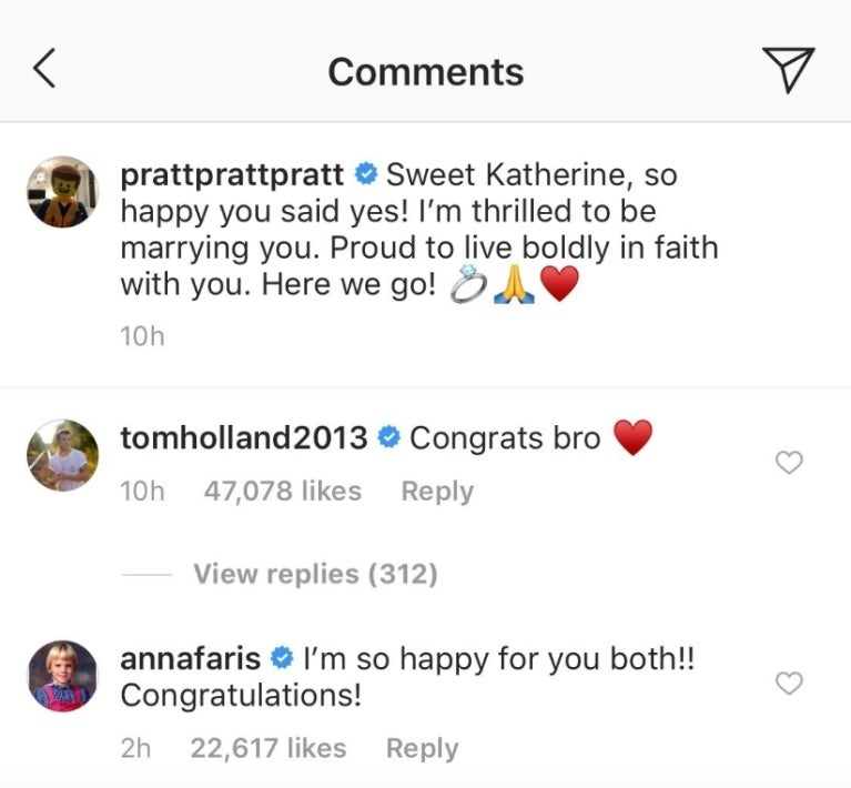 Chris Pratt announces engagement to Katherine Schwarzenegger