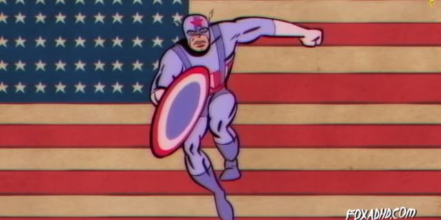 captain america theme song pokes fun of america 39 s problems. Black Bedroom Furniture Sets. Home Design Ideas